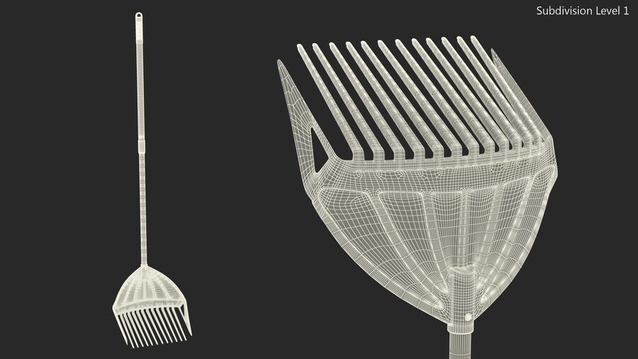 MLTOOLS Combined Rake Shovel and Sieve royalty-free 3d model - Preview no. 15
