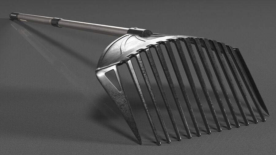MLTOOLS Combined Rake Shovel and Sieve royalty-free 3d model - Preview no. 6