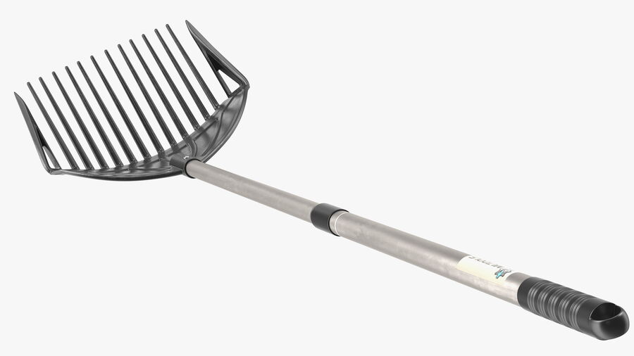 MLTOOLS Combined Rake Shovel and Sieve royalty-free 3d model - Preview no. 10