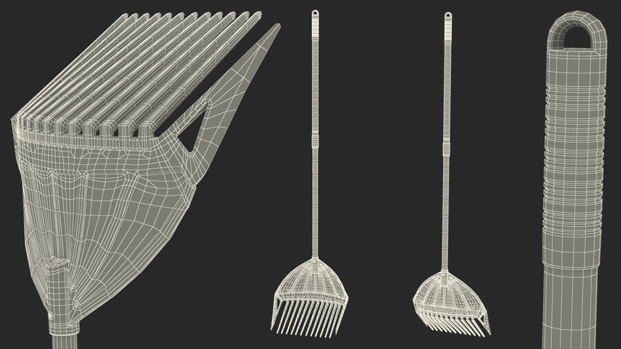 MLTOOLS Combined Rake Shovel and Sieve royalty-free 3d model - Preview no. 24