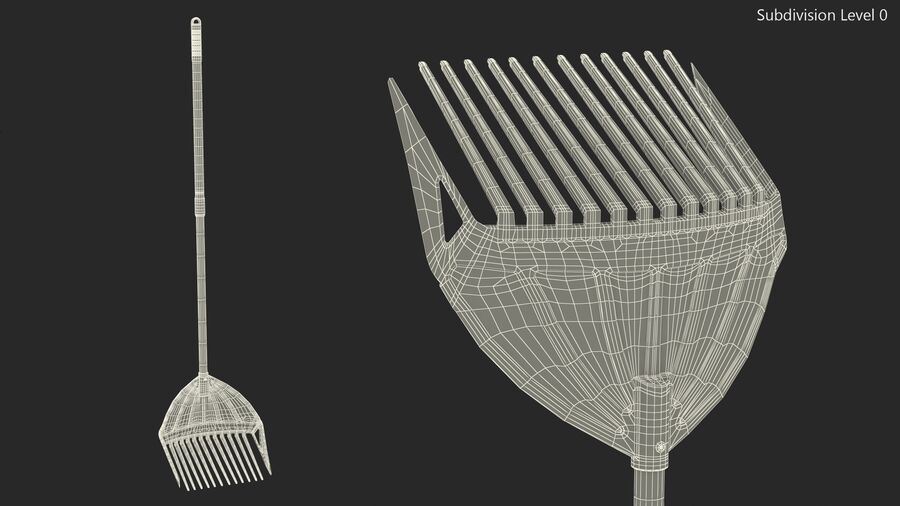 MLTOOLS Combined Rake Shovel and Sieve royalty-free 3d model - Preview no. 14