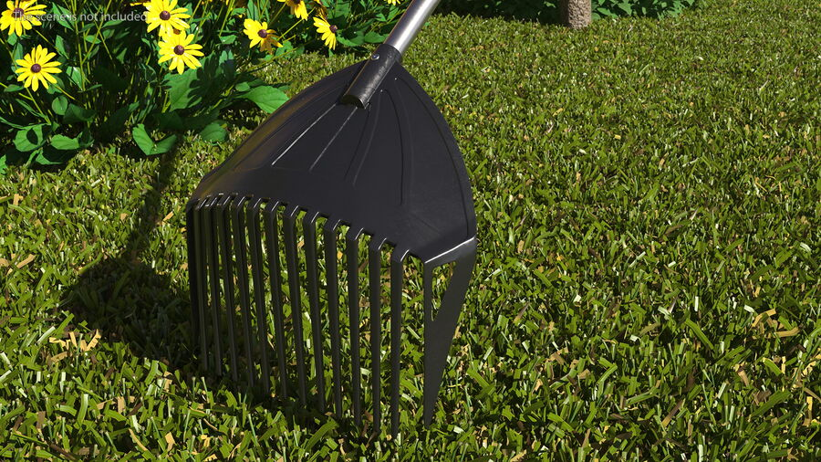 MLTOOLS Combined Rake Shovel and Sieve royalty-free 3d model - Preview no. 4