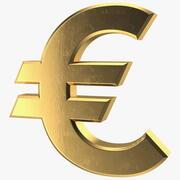 Goldenes Euro-Zeichen 3d model