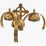 Złoty dzwon liturgiczny 3 dźwięki 3d model