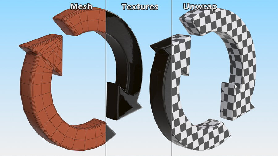 Synchronization Symbol royalty-free 3d model - Preview no. 12