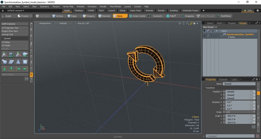 Synchronization Symbol royalty-free 3d model - Preview no. 13