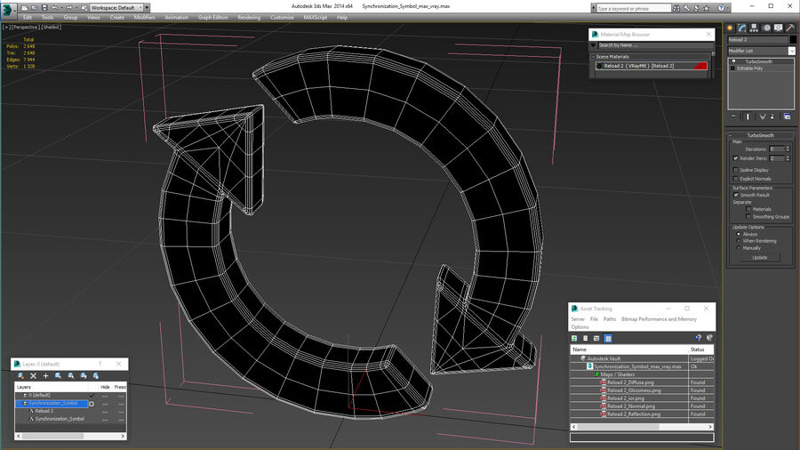 Synchronization Symbol royalty-free 3d model - Preview no. 21