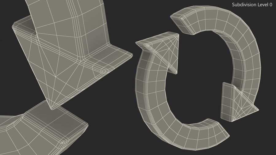 Synchronization Symbol royalty-free 3d model - Preview no. 17