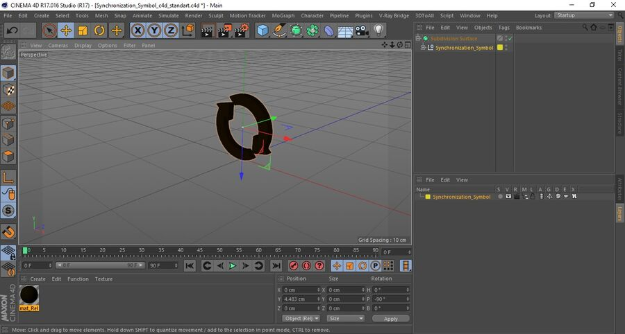 Synchronization Symbol royalty-free 3d model - Preview no. 16