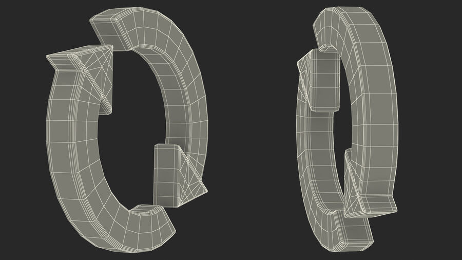 Synchronization Symbol royalty-free 3d model - Preview no. 22
