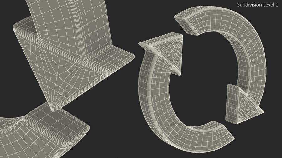 Synchronization Symbol royalty-free 3d model - Preview no. 18