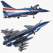 人民解放軍空軍J10の活発なドラゴン曲技飛行チームの兵器が装備された 3d model