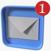 Icono de notificación por correo electrónico modelo 3d