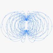 Champ magnétique 3d model