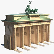 Brandenburg Gate Triumphal Arch 3d model