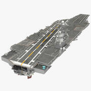 USS Gerald Ford hangarfartyg riggad 3d model