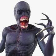 Pêlo de criatura assustador 3d model
