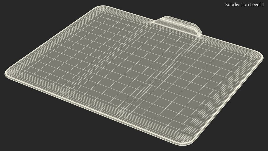 HyperX FURY Ultra RGB Gaming Mouse Pad switched On royalty-free 3d model - Preview no. 21