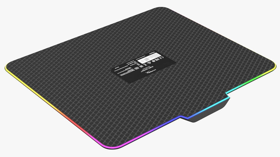HyperX FURY Ultra RGB Gaming Mouse Pad switched On royalty-free 3d model - Preview no. 14