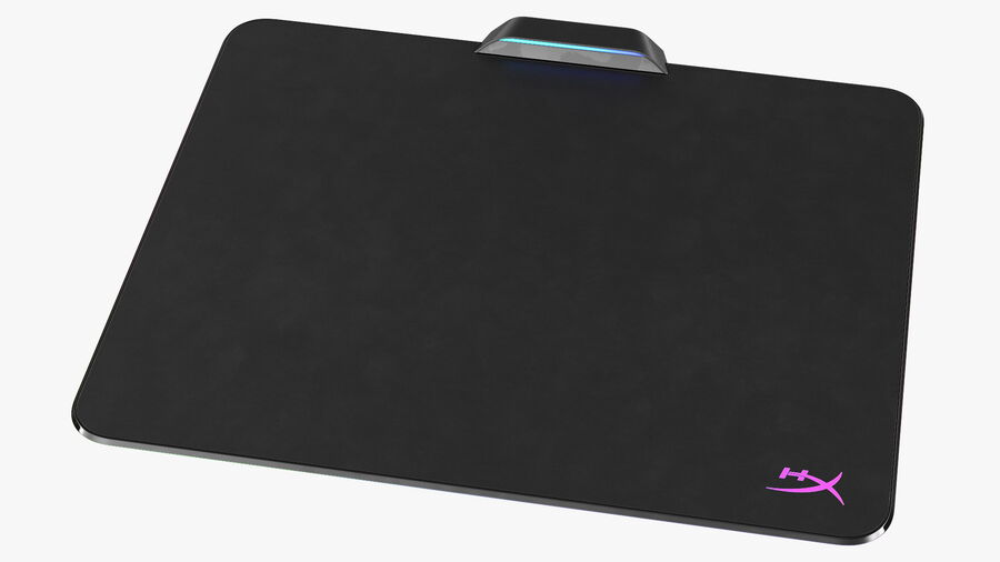 HyperX FURY Ultra RGB Gaming Mouse Pad switched On royalty-free 3d model - Preview no. 9