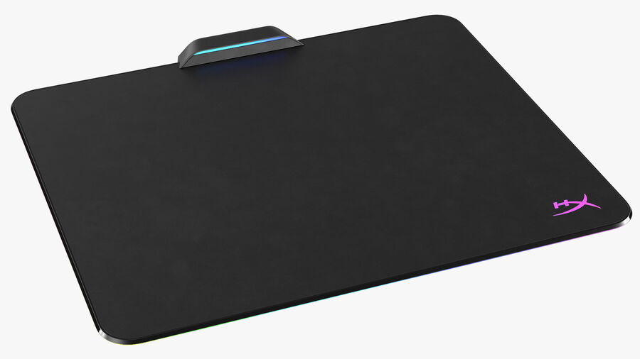 HyperX FURY Ultra RGB Gaming Mouse Pad switched On royalty-free 3d model - Preview no. 2