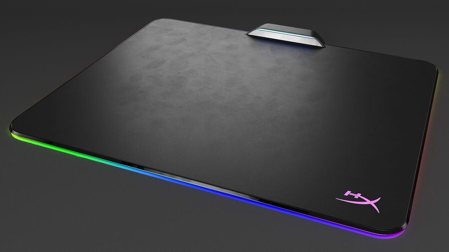HyperX FURY Ultra RGB Gaming Mouse Pad switched On royalty-free 3d model - Preview no. 8