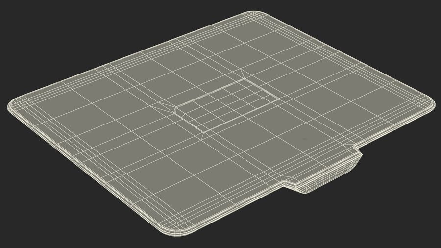 HyperX FURY Ultra RGB Gaming Mouse Pad switched On royalty-free 3d model - Preview no. 32
