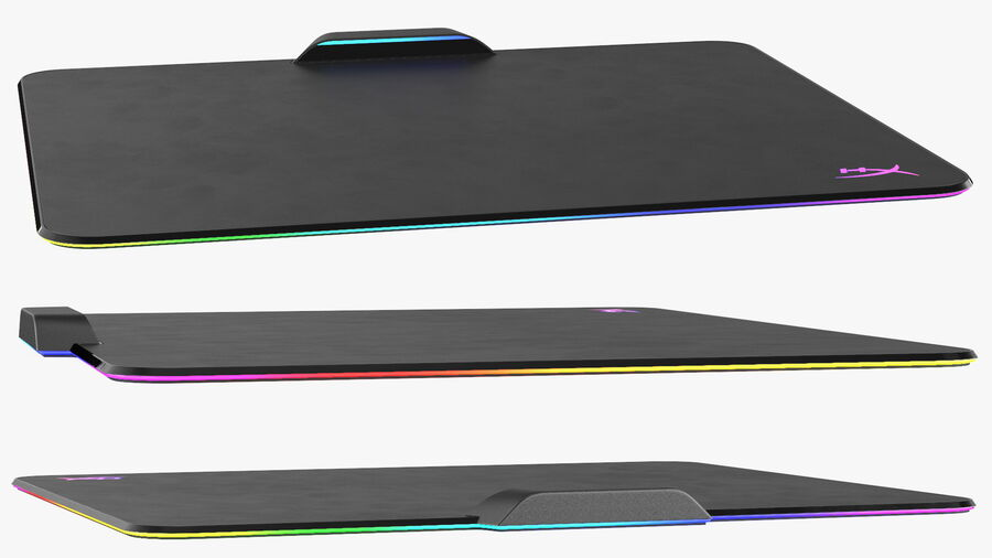 HyperX FURY Ultra RGB Gaming Mouse Pad switched On royalty-free 3d model - Preview no. 10