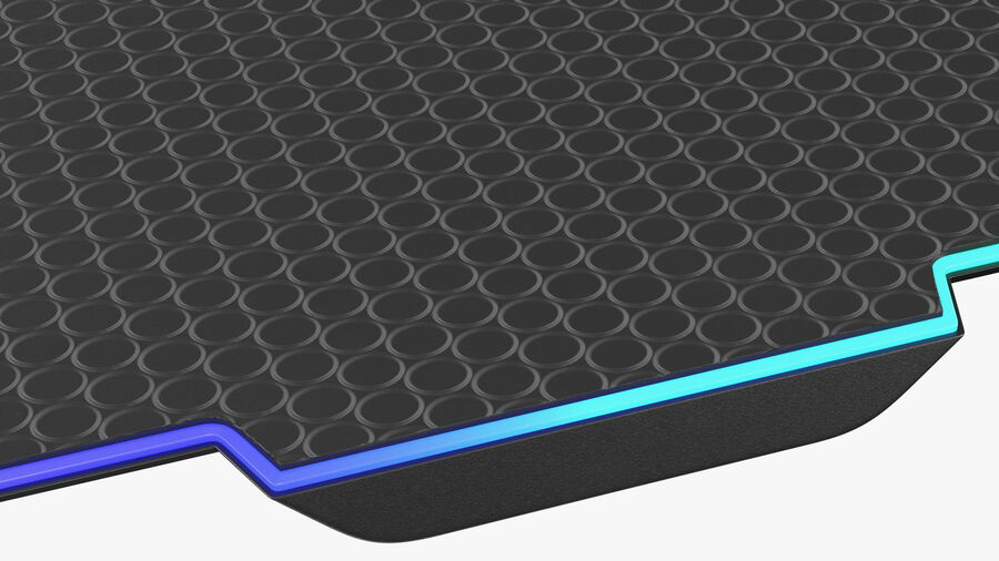HyperX FURY Ultra RGB Gaming Mouse Pad switched On royalty-free 3d model - Preview no. 15