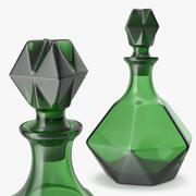 Green Glass Decanter 3d model