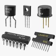 Coleção de transistores 3 3d model