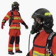 Pompier entièrement équipé 3d model