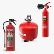 Colección de extintores modelo 3d