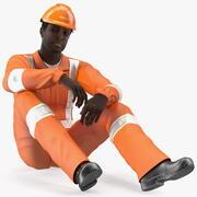 アフリカ系アメリカ人の救助者 3d model