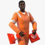 アフリカ系アメリカ人の道路労働者 3d model