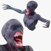 Scary Creature Bust 3d model