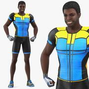 アフリカ系アメリカ人のスポーツマンフレックス 3d model