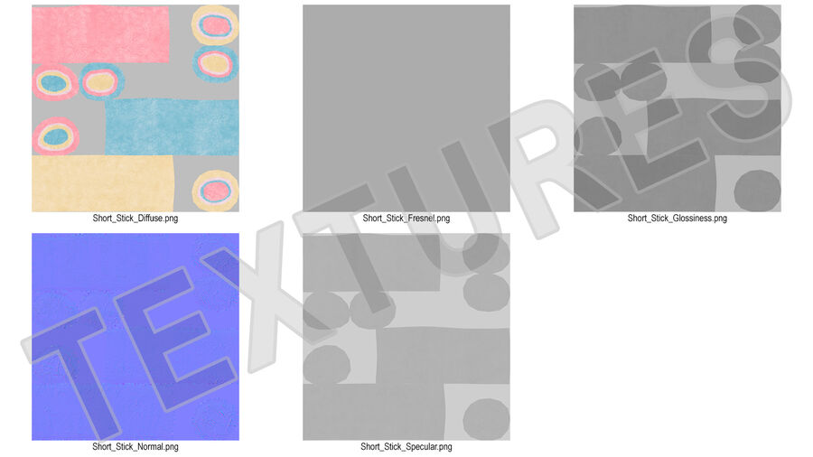 Colorful Marshmallow Candy royalty-free 3d model - Preview no. 18