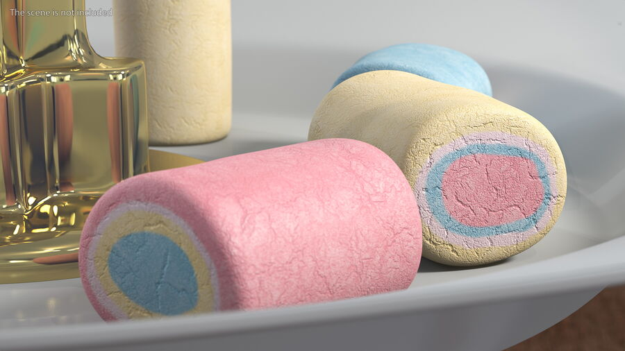 Colorful Marshmallow Candy royalty-free 3d model - Preview no. 4