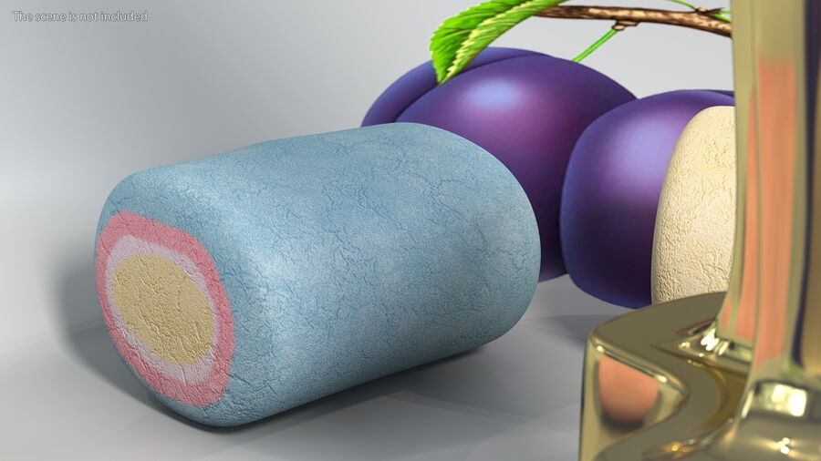 Colorful Marshmallow Candy royalty-free 3d model - Preview no. 6