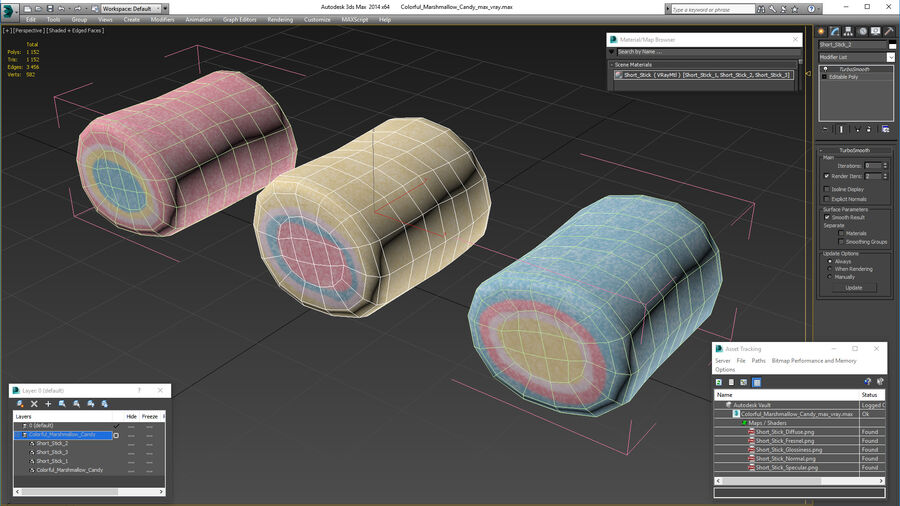 Colorful Marshmallow Candy royalty-free 3d model - Preview no. 19