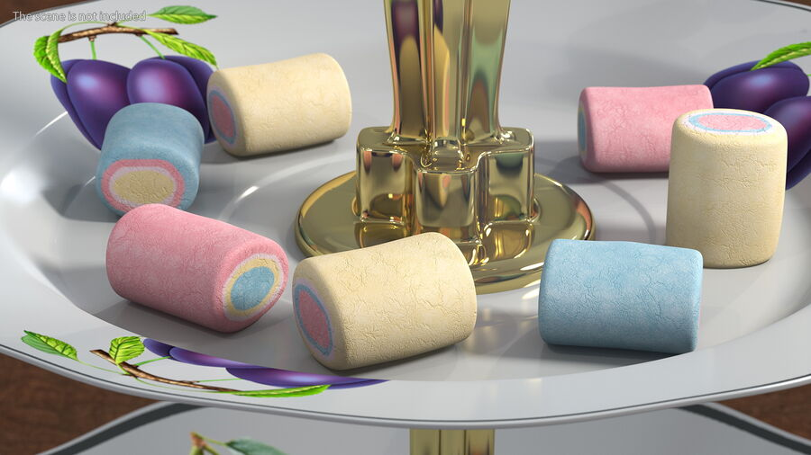 Colorful Marshmallow Candy royalty-free 3d model - Preview no. 3