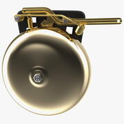 Brass Boxing Bell Rigged 3d model