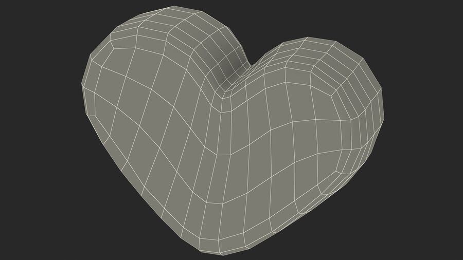 Pink and White Marshmallow Hearts royalty-free 3d model - Preview no. 26