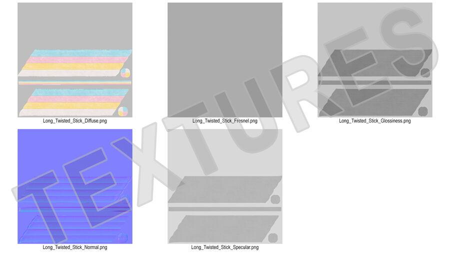マシュマロキャンディツイスト royalty-free 3d model - Preview no. 15