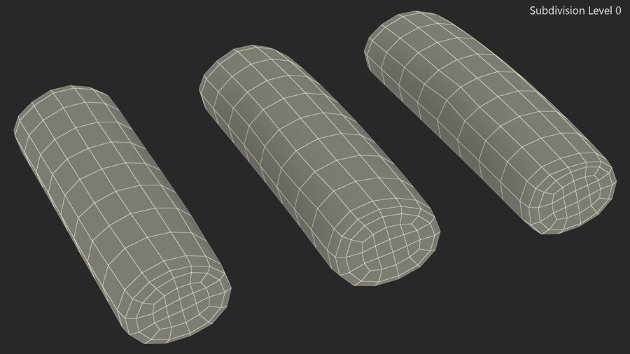 Marshmallow Pole Twist Candy royalty-free 3d model - Preview no. 16