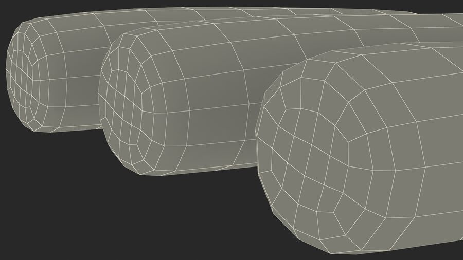 Marshmallow Pole Twist Candy royalty-free 3d model - Preview no. 26