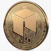 NEO暗号通貨コインゴールド 3d model