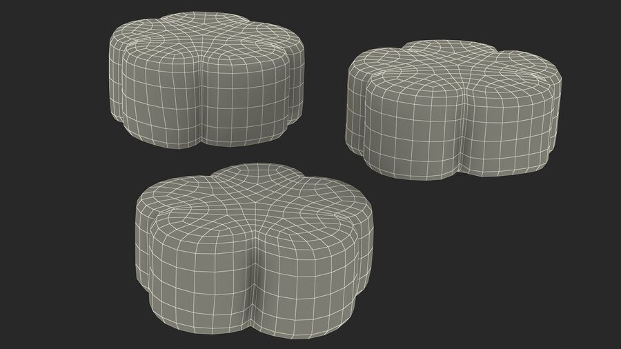 Flower Shaped Marshmallows royalty-free 3d model - Preview no. 25