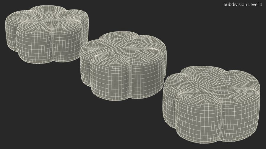 Flower Shaped Marshmallows royalty-free 3d model - Preview no. 16